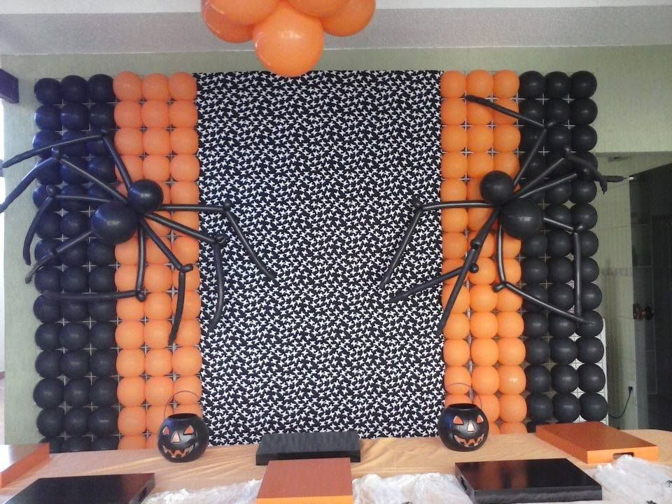 Halloween balloon decor balloon decorations pinterest for Balloon decoration for halloween