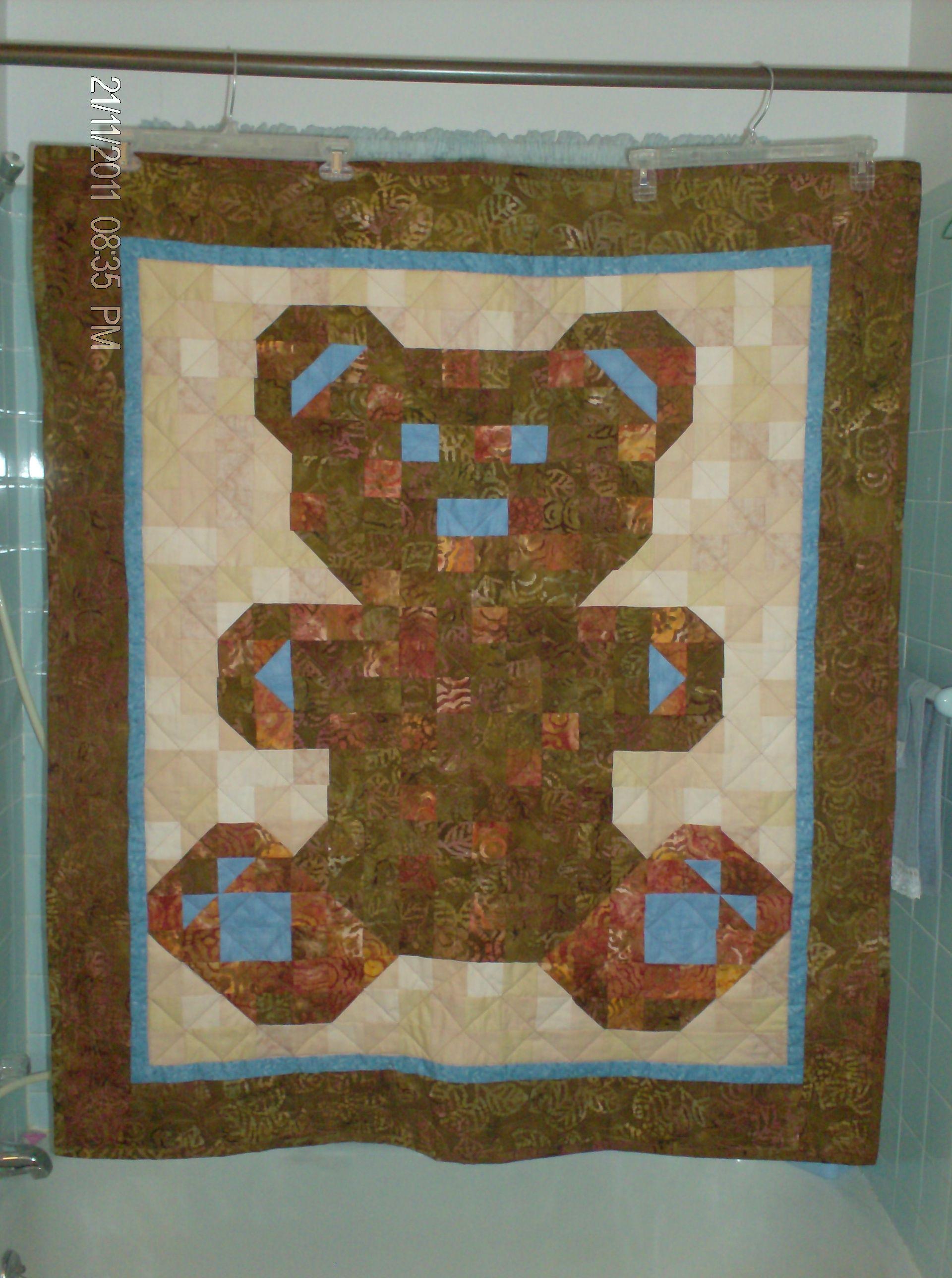 Teddy Bear Quilt I made Quilting Pinterest