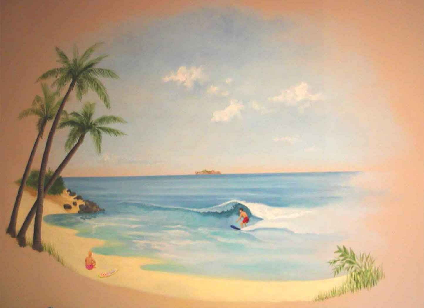 beach mural mountains to sea basement pinterest
