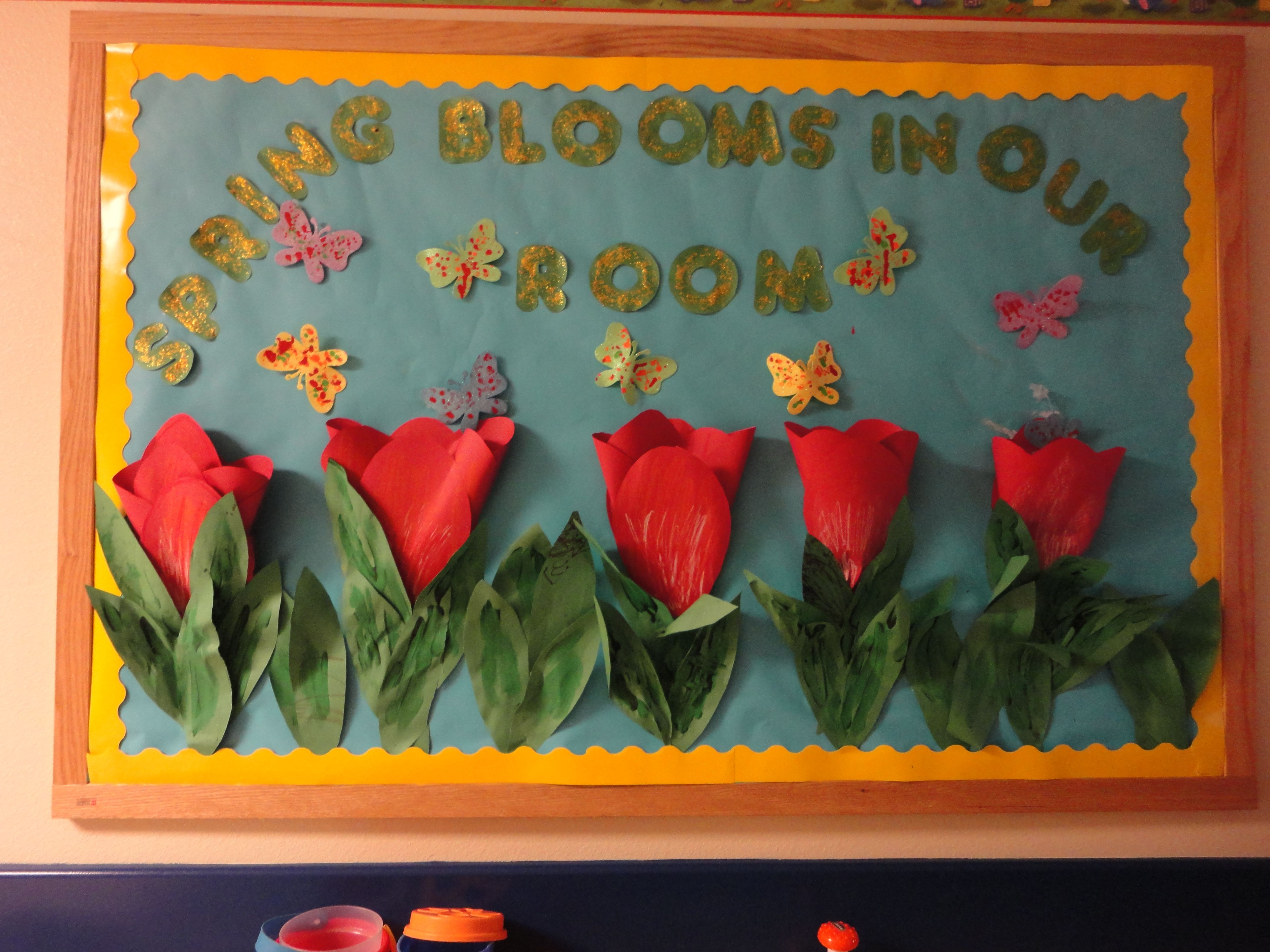 Spring bulletin board classroom finds pinterest for Art and craft for classroom decoration
