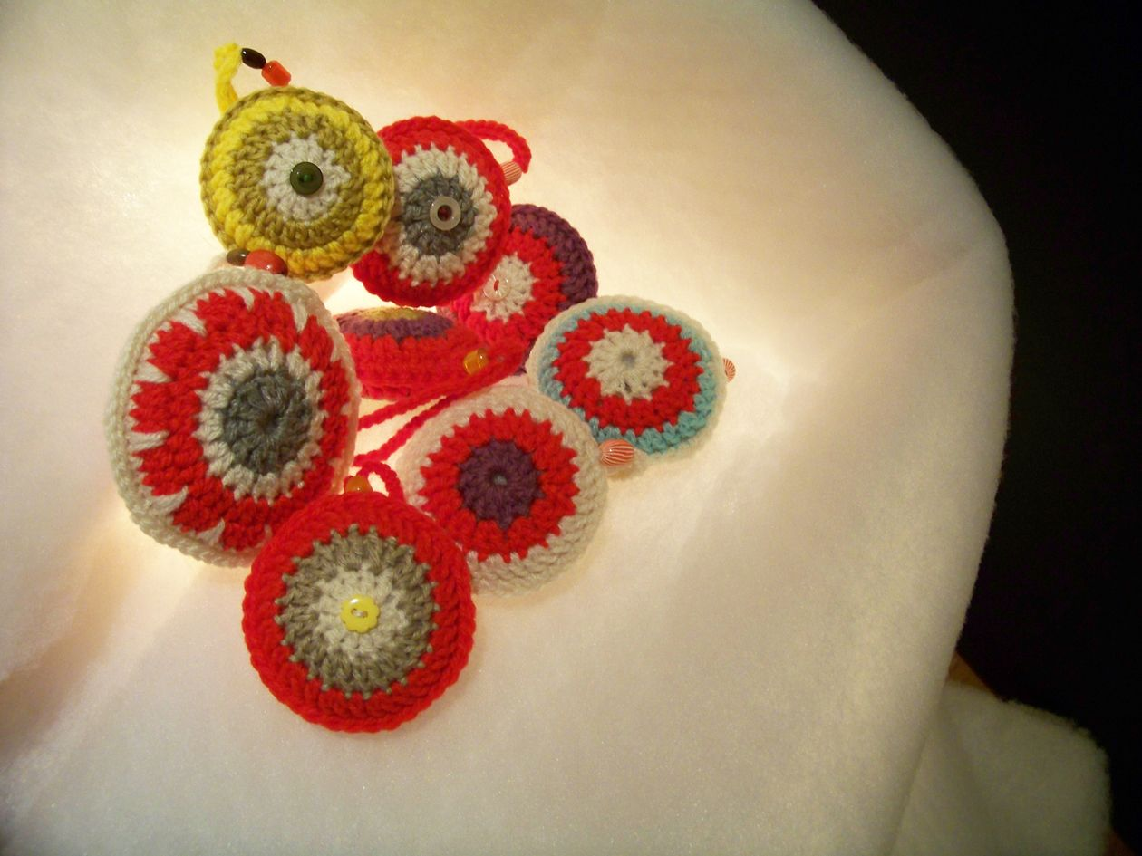 Crochet Xmas Ornaments : rosebud: christmas crochet ornaments Crochet items Pinterest