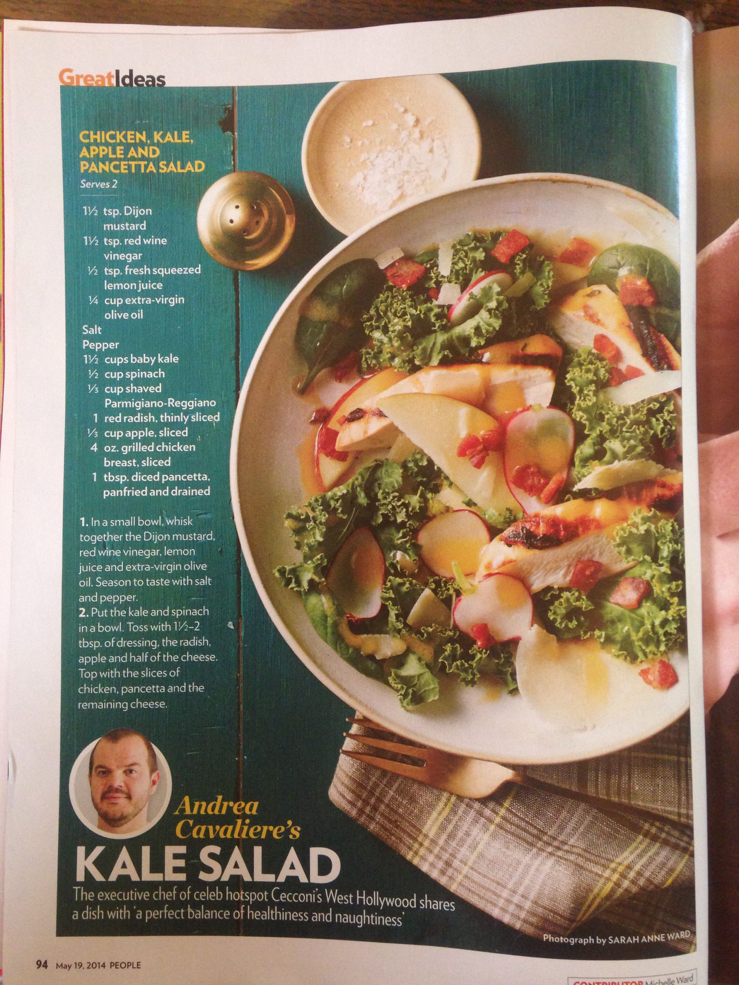 Chicken, kale, apple and pancetta salad | Main dishes | Pinterest