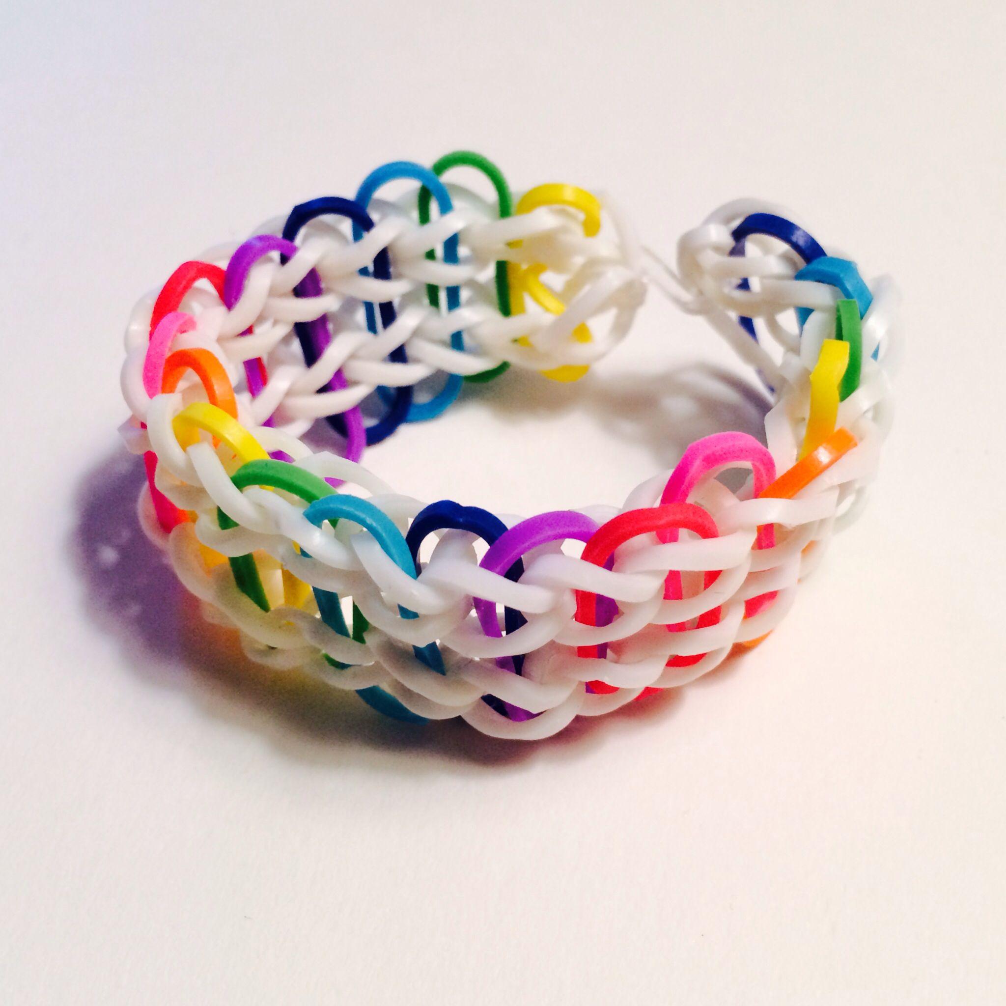 -Rainbow Rainbow Loom Bracelet #rainbowloom #doublerainbow | Rainbow ...