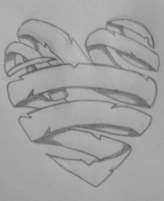 Ribbon heart | My penc...