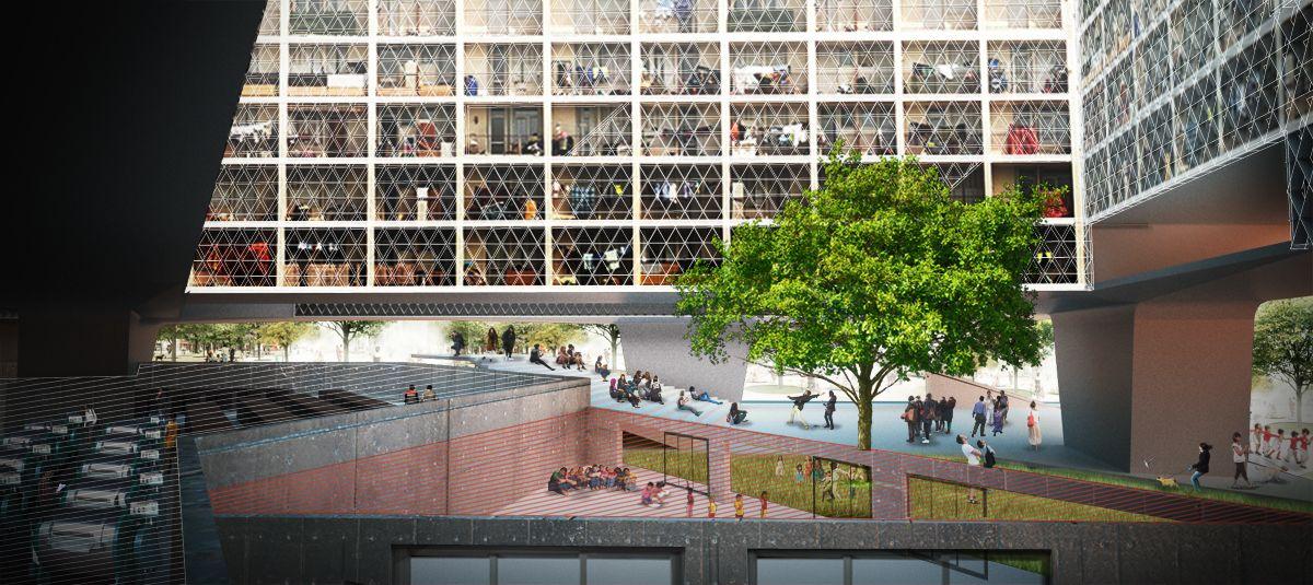 courtyard render