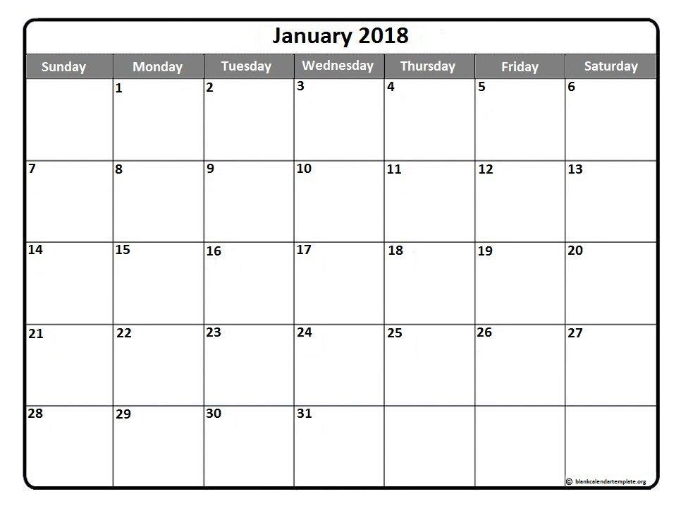 January 2018 Calendar Sheet     2018 january calendar