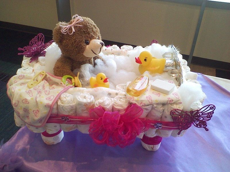 diaper baby bathtub diaper cakes and baby shower gifts. Black Bedroom Furniture Sets. Home Design Ideas