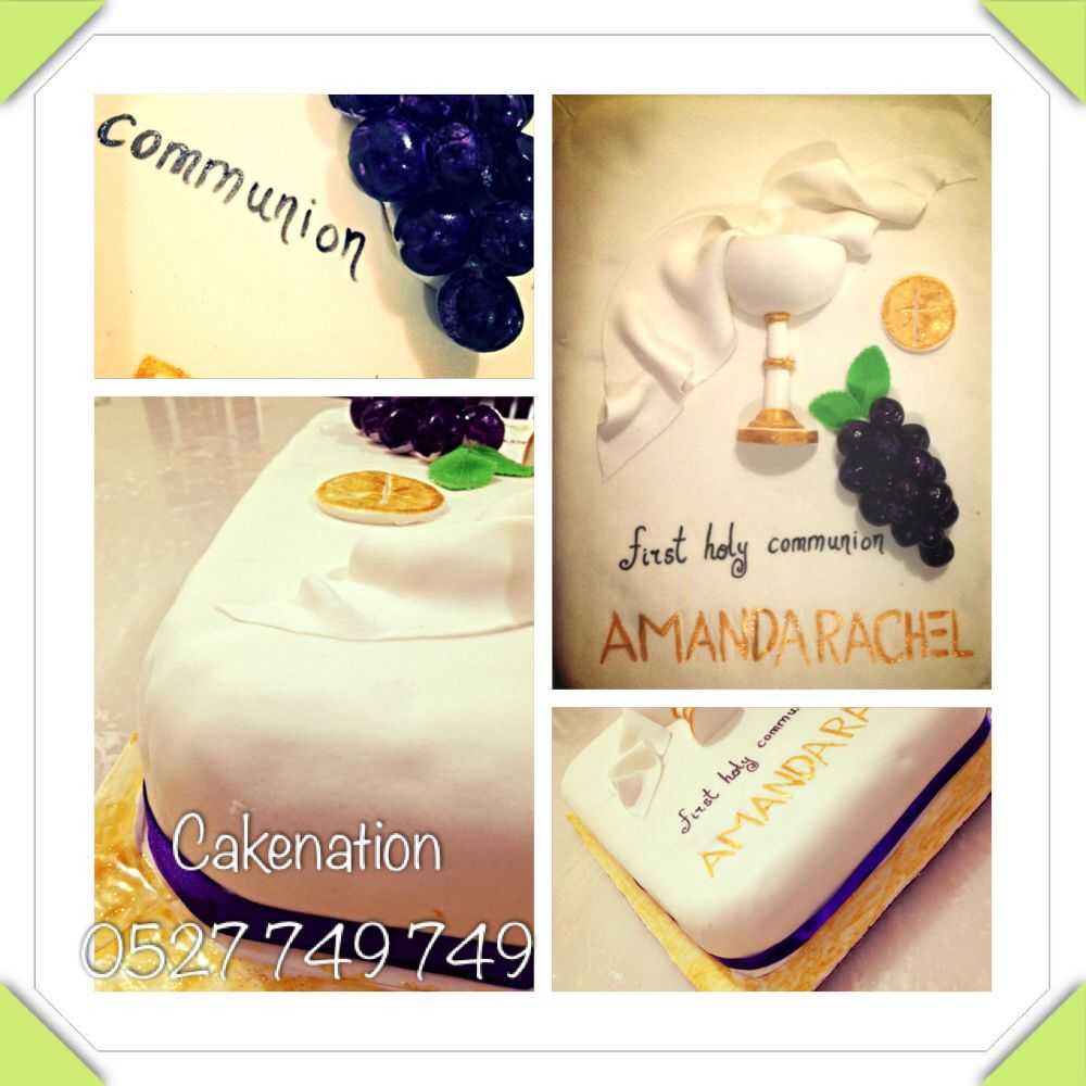 First holy communion cake my cakes pinterest