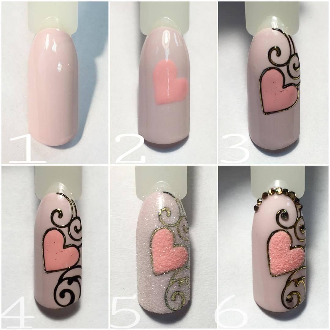 Схемы рисования на ногтях мультяшки