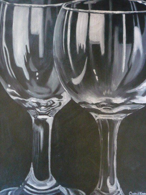 Wine glasses acrylic painting art paintings pinterest for How to paint a wine glass with acrylics