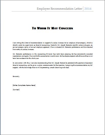 sample reference letter for employee uk