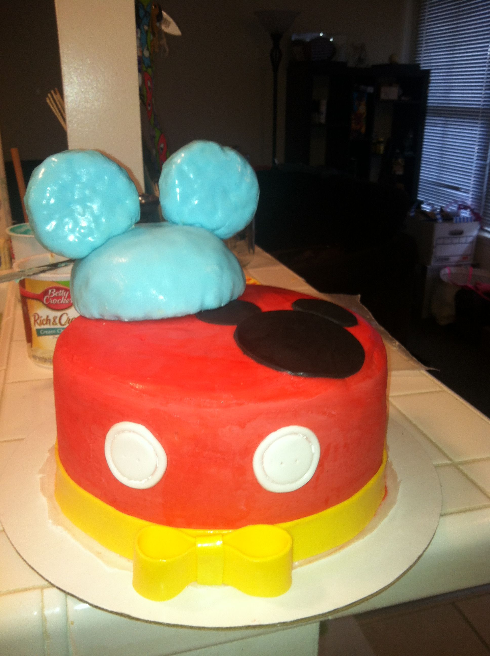 mickey mouse baby shower cake my hobby pinterest
