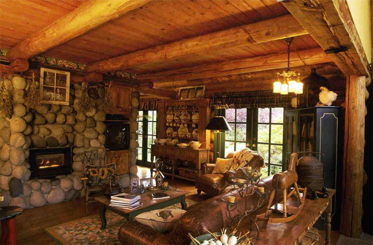 cottage living area log cabin pinterest