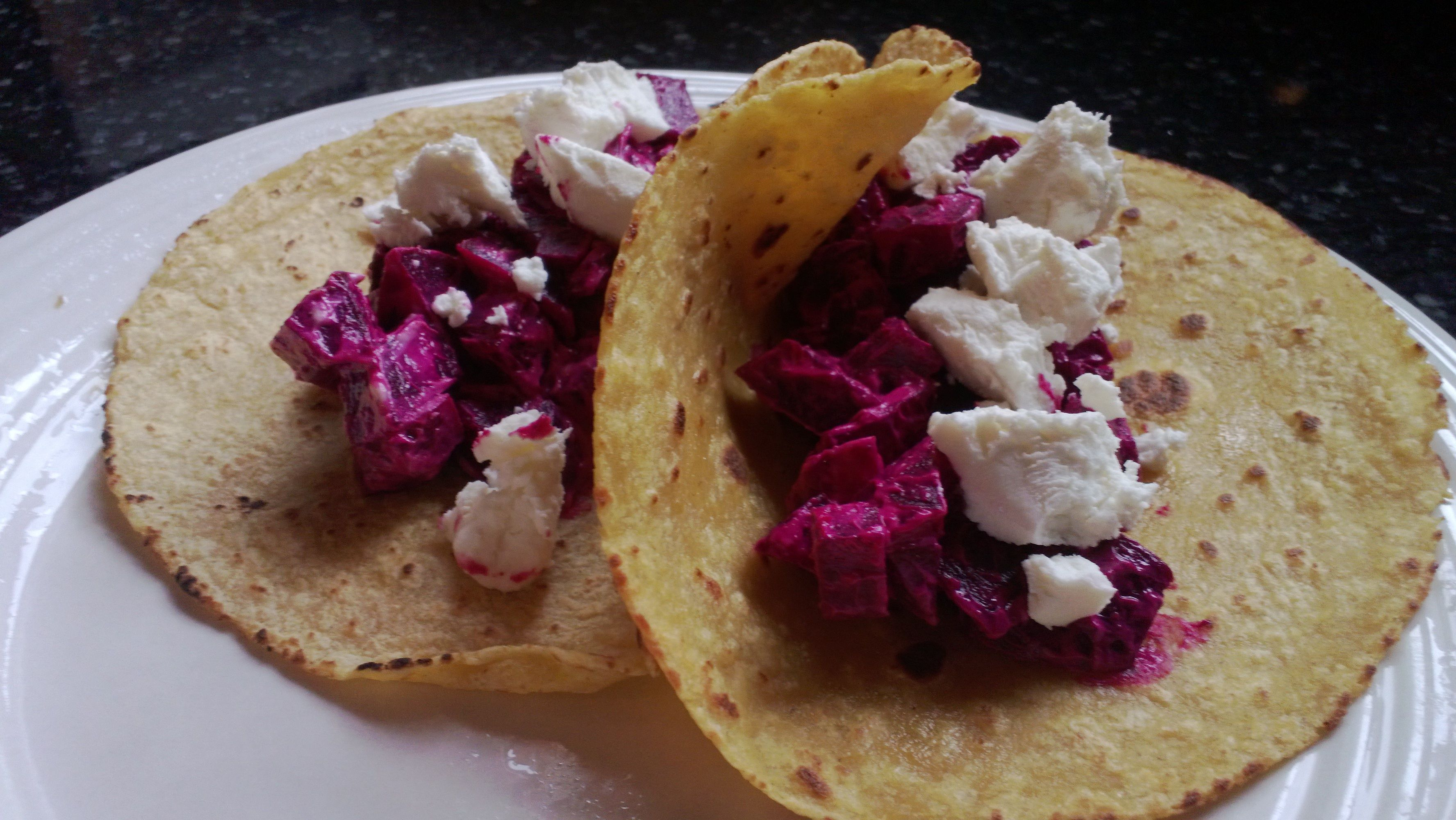 Roasted beets and goat cheese tacos | Dinners | Pinterest