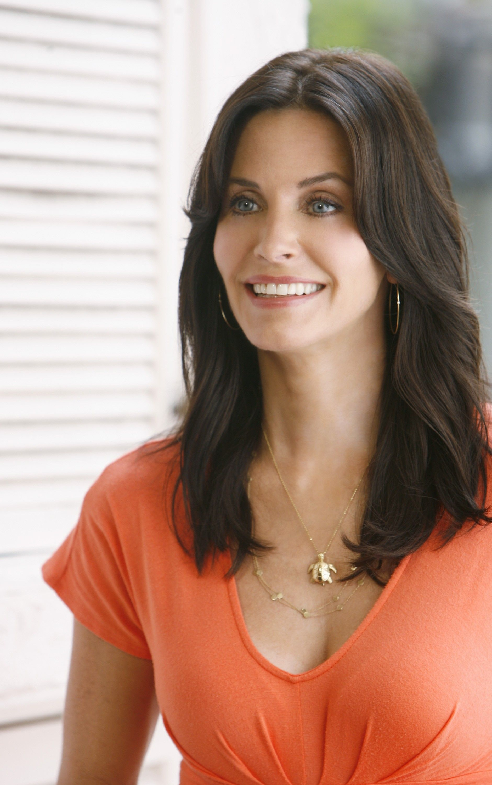 Courteney Cox Black Long Hairstyles for Sleek Hair pictures