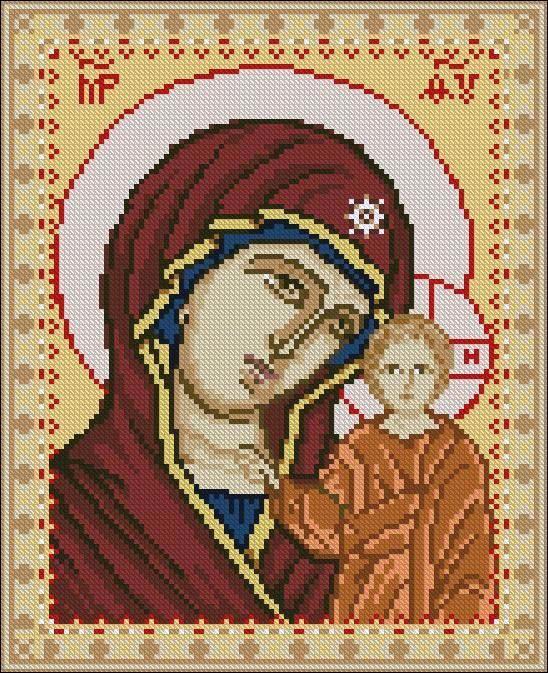 Схема вышивки икон божьей матери 993