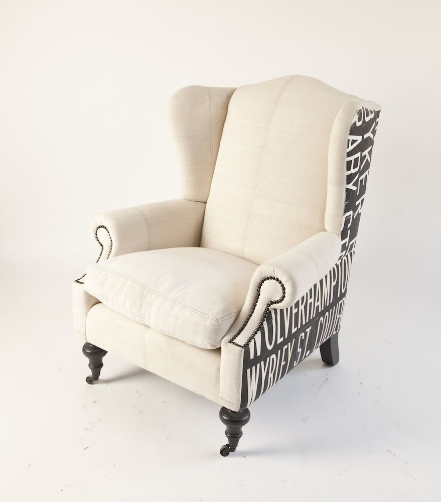 Upholstered wingback chairs pinterest for How to make a wingback chair