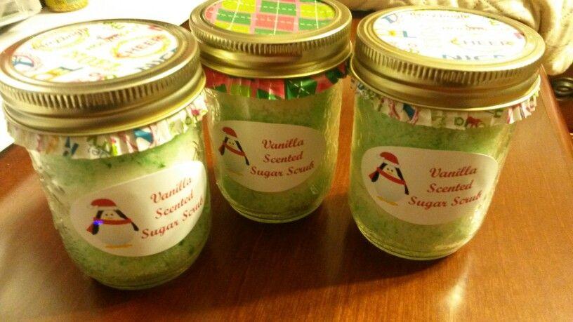 Vanilla Scented Sugar Scrubs | scrubs.... | Pinterest