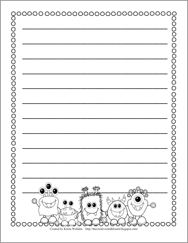 Writing paper printable with border – Writing Paper Template with Borders