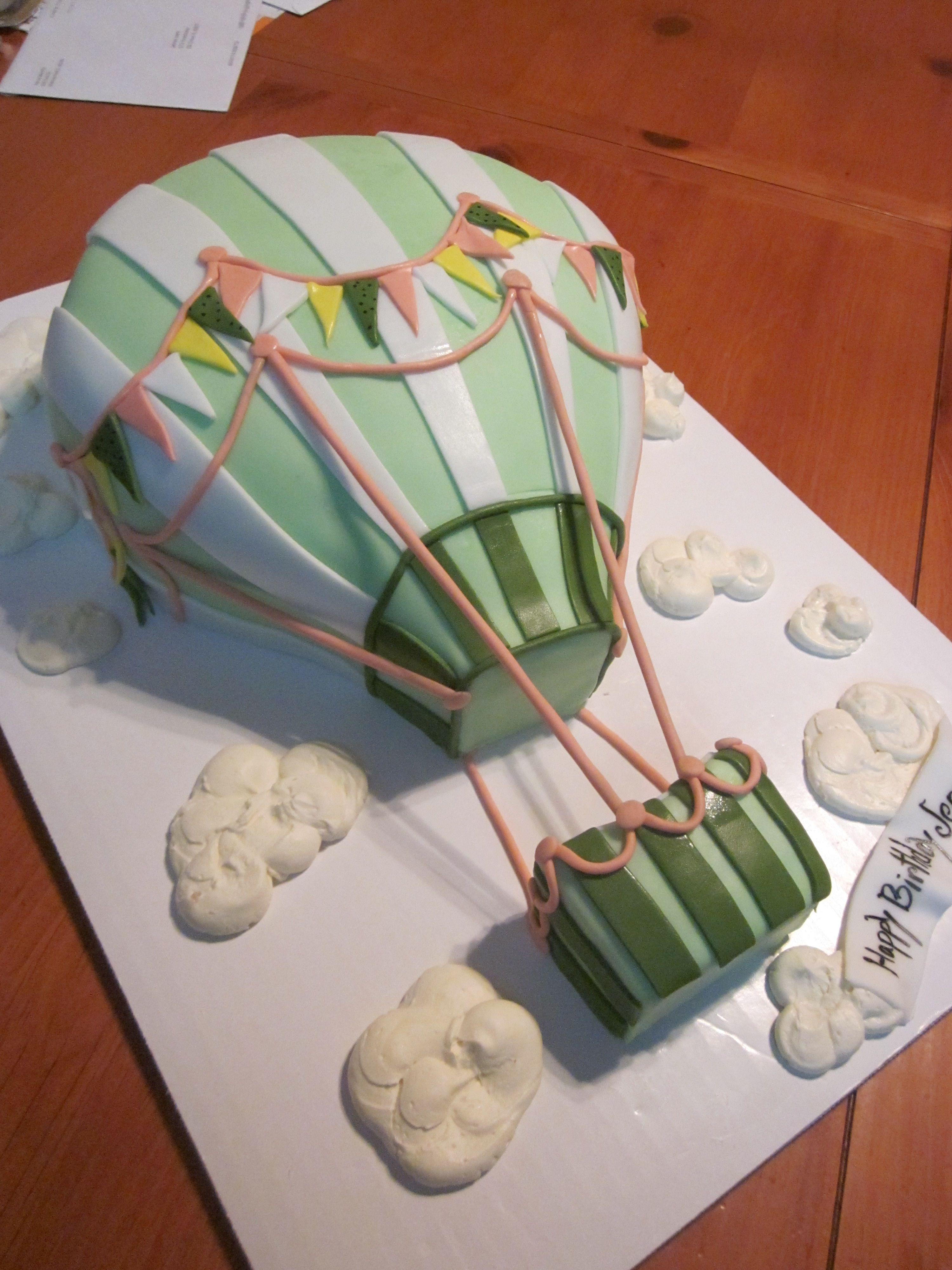 Hot air balloon cake cake decorating pinterest for Balloon cake decoration