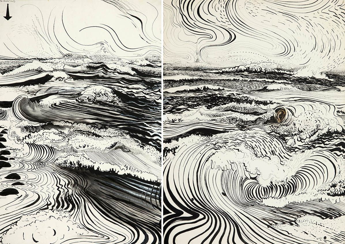 Line Drawing Unity : The divided unity brett whiteley art sketches