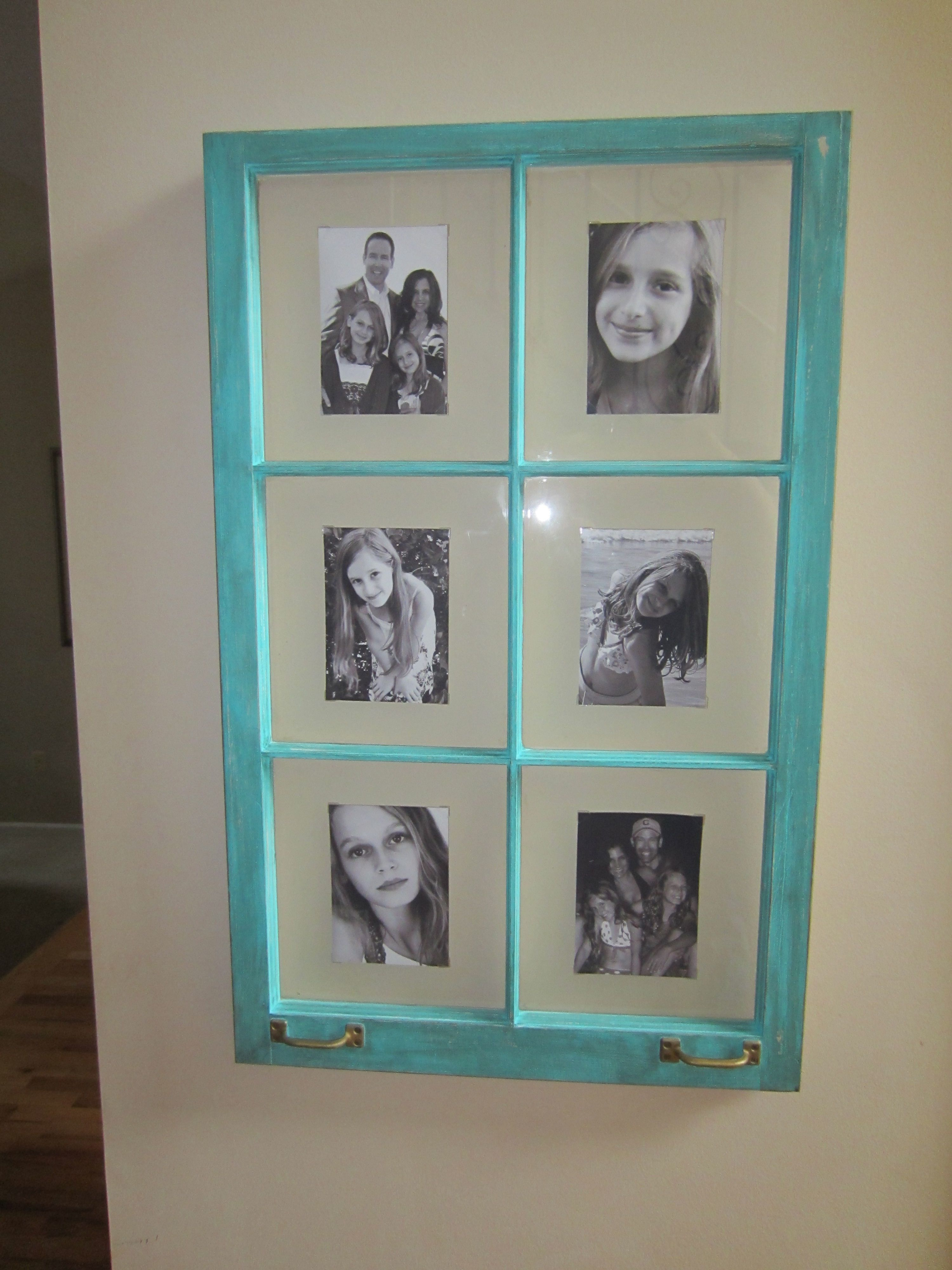 Old window sash picture frame decorating pinterest for Using old windows as picture frames