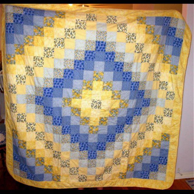 Trip Around The World Quilt Pattern Lap Size : First quilt