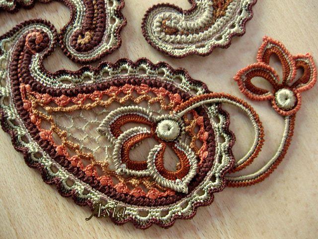 Free Crochet Paisley Motif Pattern : Paisley CROCHET: motifs Pinterest