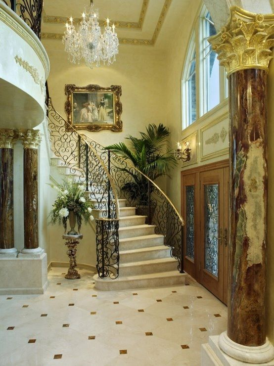 Grand Foyer Staircases Foyers And Entry Ways Pinterest