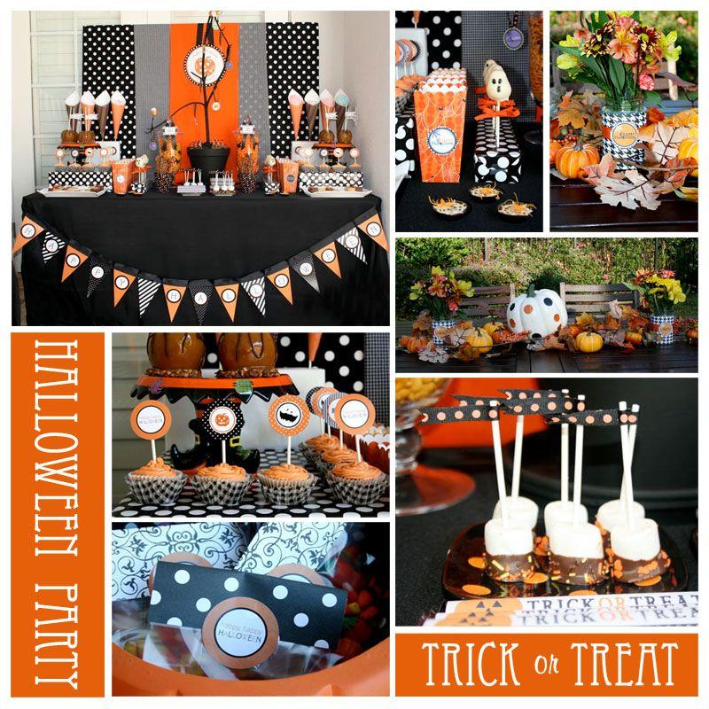 Halloween Treat Table Party Ideas Pinterest