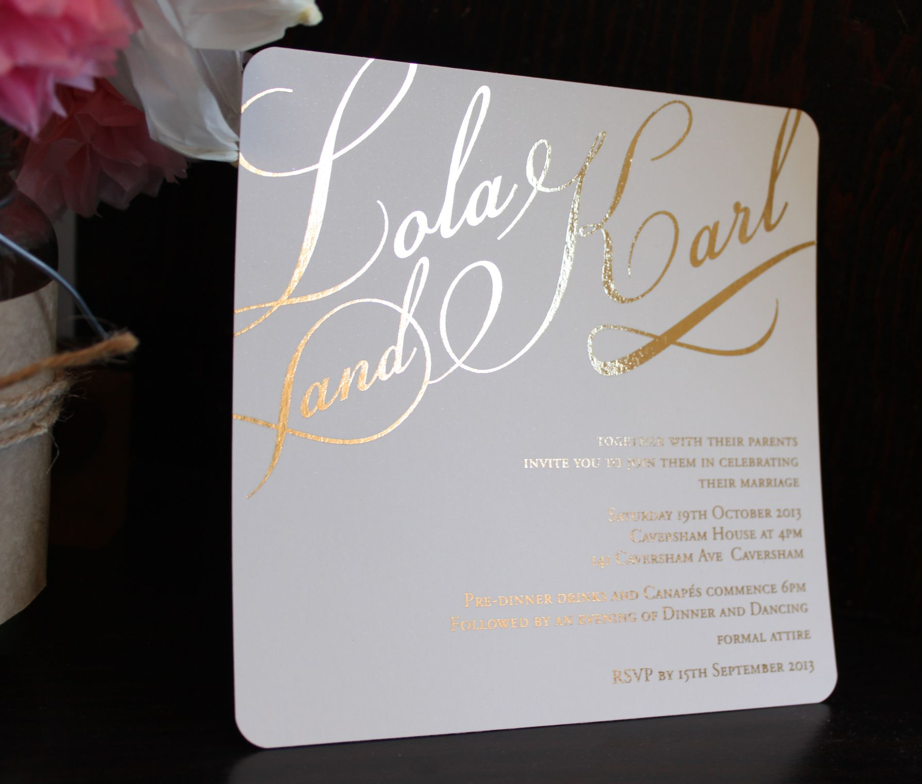 Gold Foil Wedding Invitations: Gold Foil Wedding Invitation