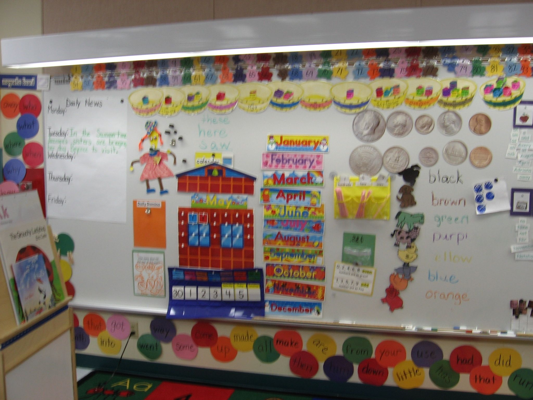 Classroom Ideas For Preschoolers : Bulletin board idea for calendar time boards