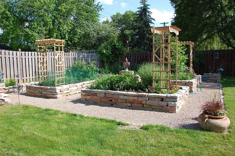 backyard raised garden garden ideas pinterest