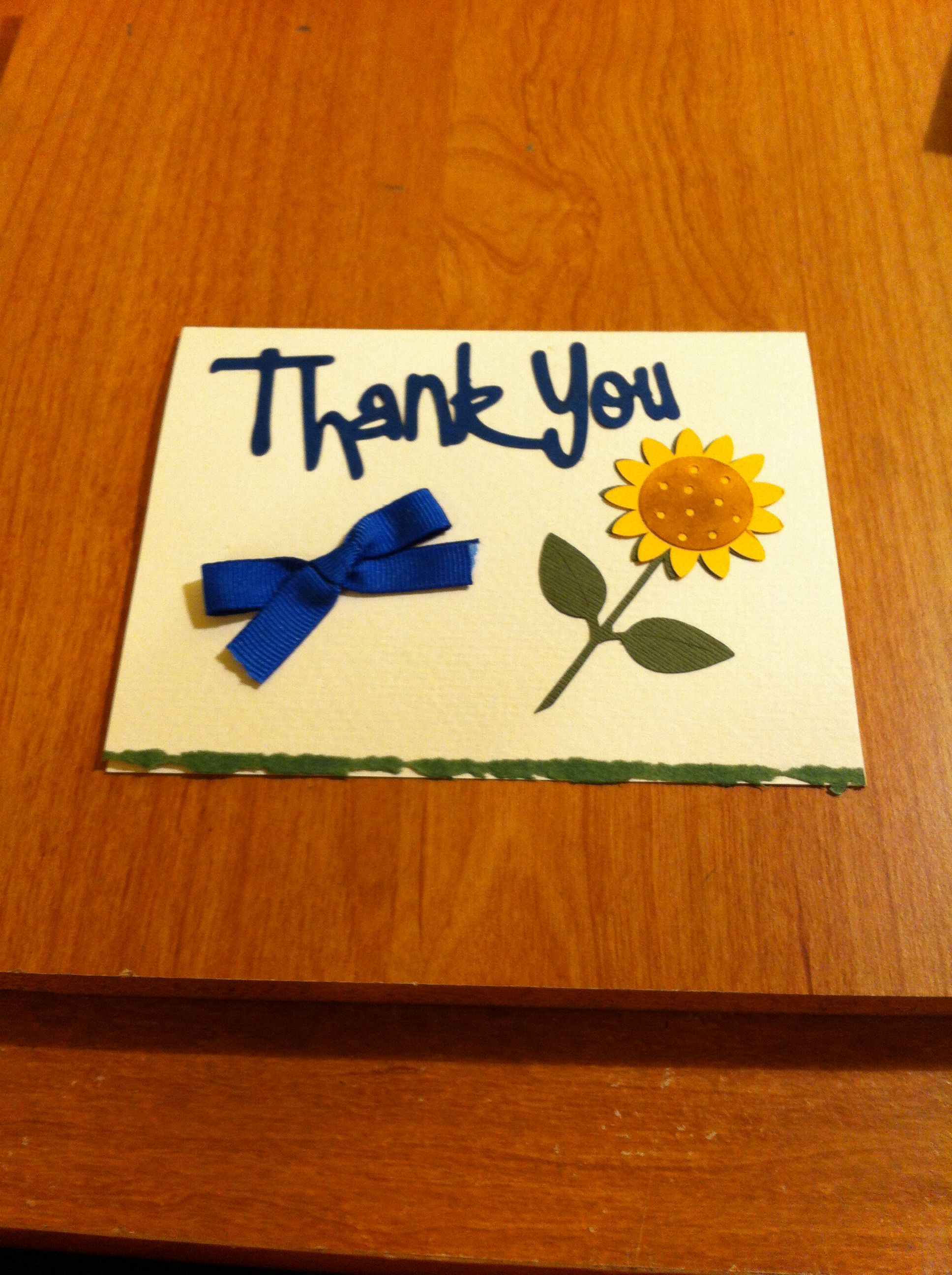 Thank you card | Homemade cards | Pinterest: pinterest.com/pin/400820435557239879