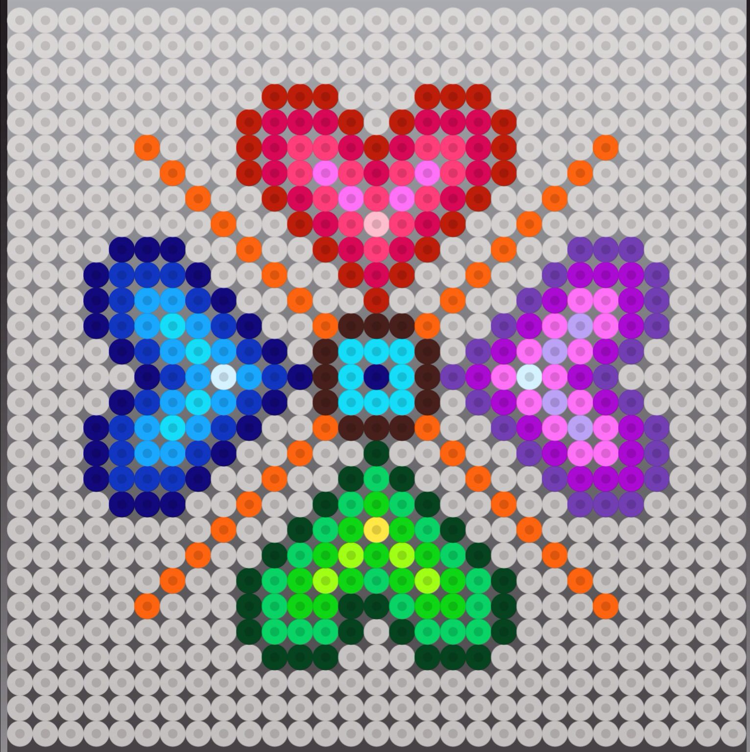 perler bead hearts design pattern crafts charts