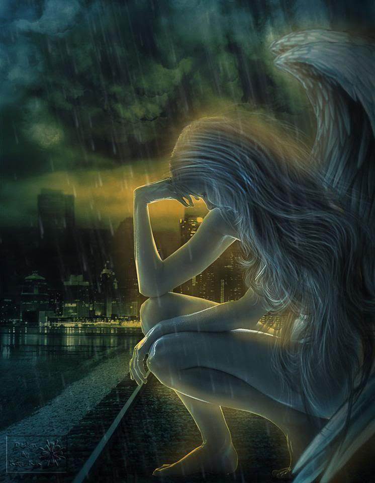 fantasy art angel sad - photo #18