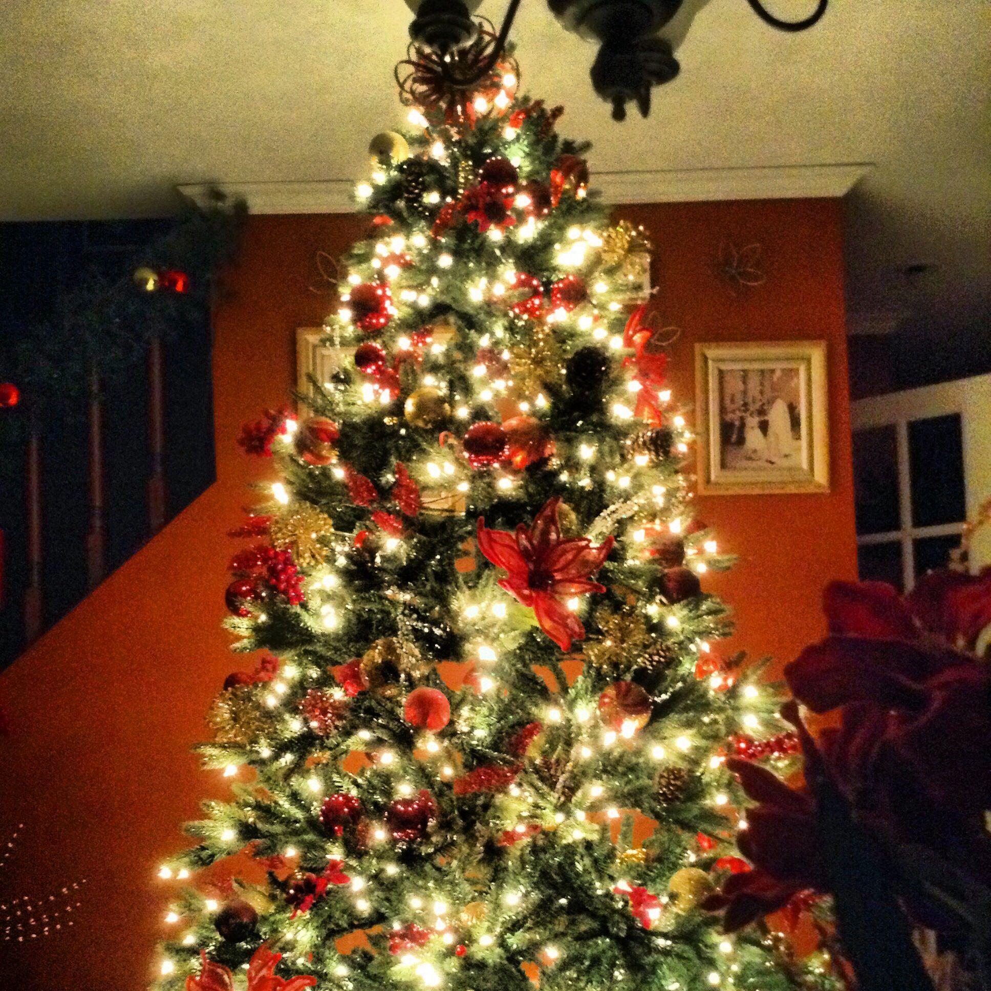 simple elegant christmas tree christmas pinterest