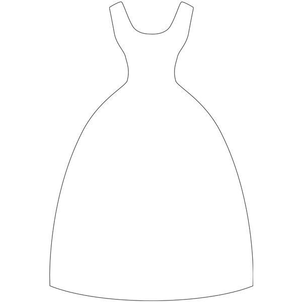 Открытка с платьем шаблон 461