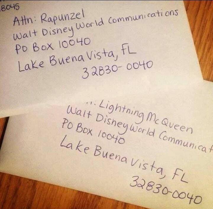 Disney Character Letter Address