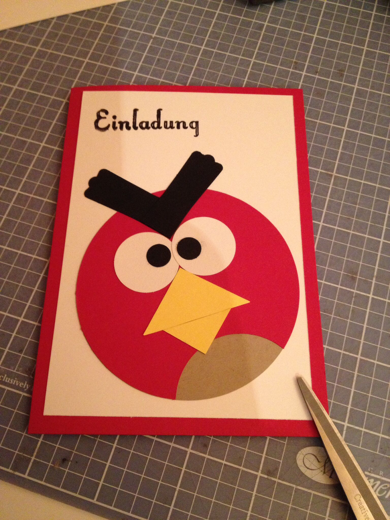 Geburtstags Einladung Angry Birds | Kinder Geburtstage | Pinterest