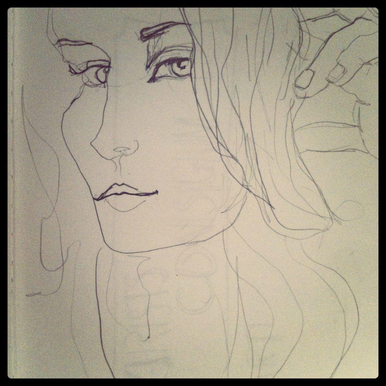 Contour Line Drawing Lesson Elementary : Contour line self portrait elementary art pinterest