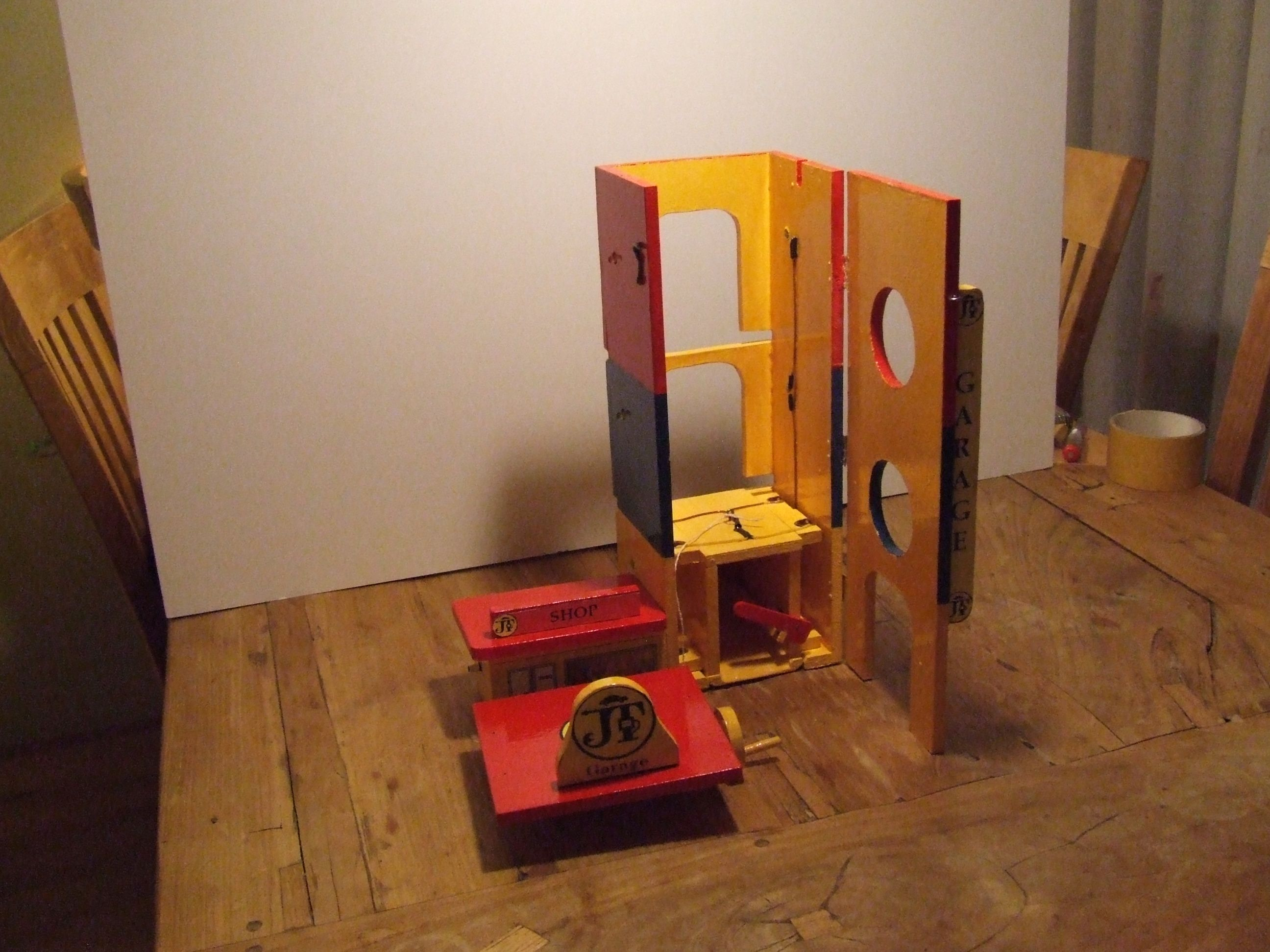 build up Elevator Tower 5th stage | Wooden Toy Garage | Pinterest
