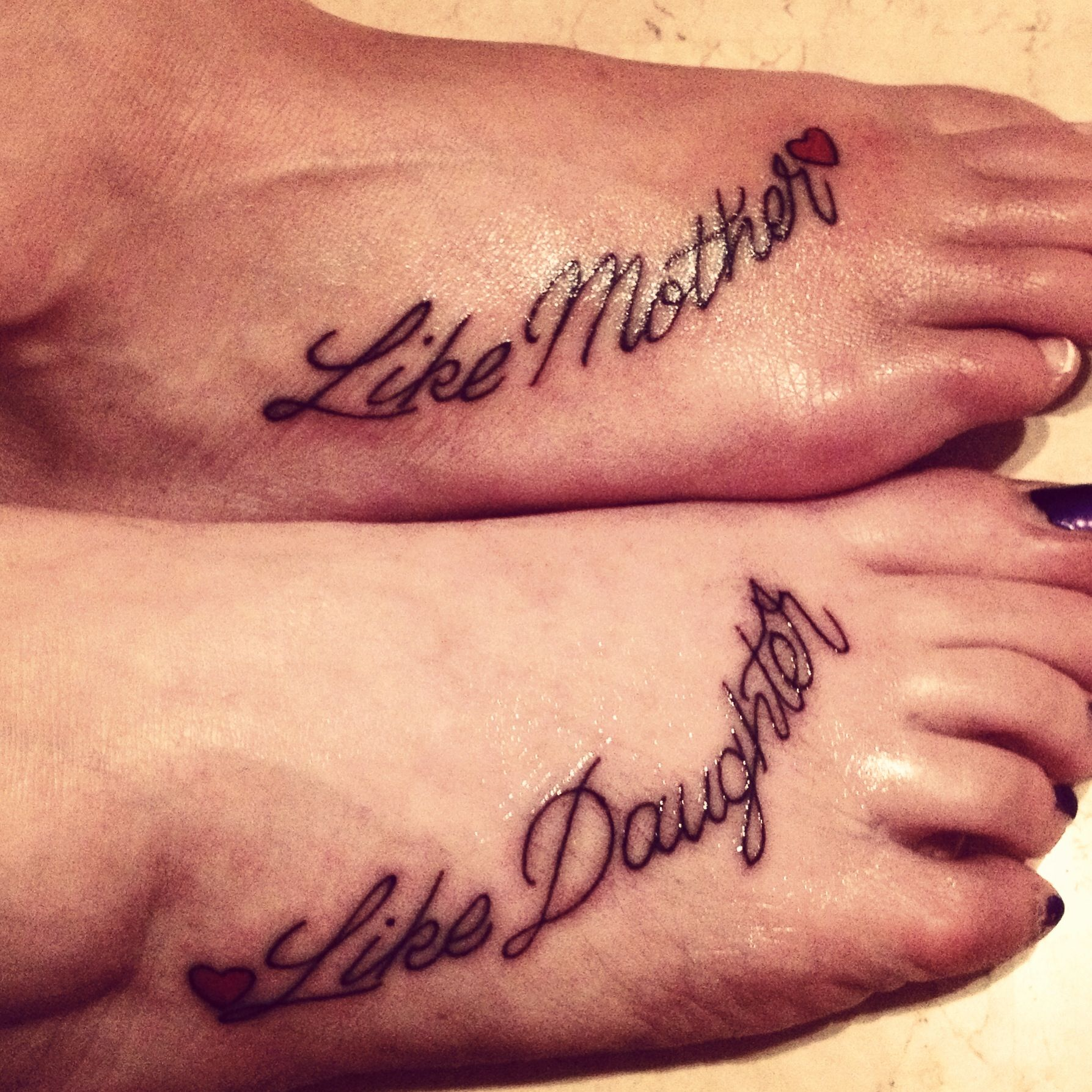 Tattoo like mother like daughter fun ideas for Cute matching tattoos for mother and daughter