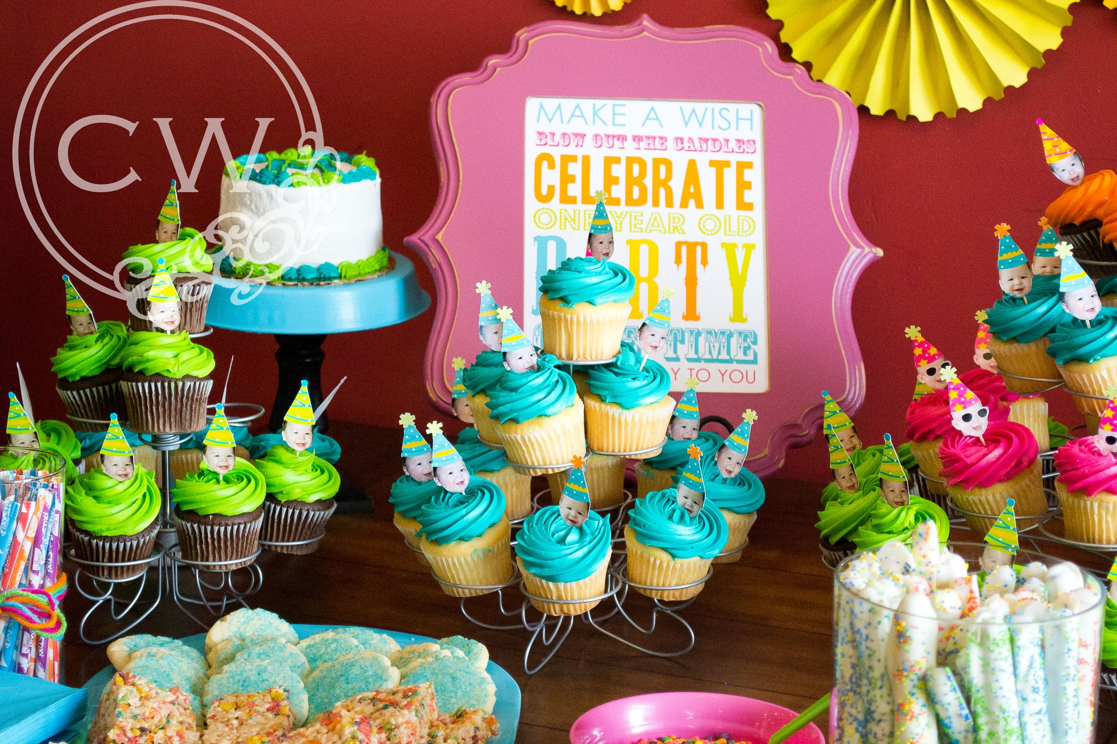 Boy/Girl Twins 1st birthday }  1st Birthday Party Ideas  Pinterest