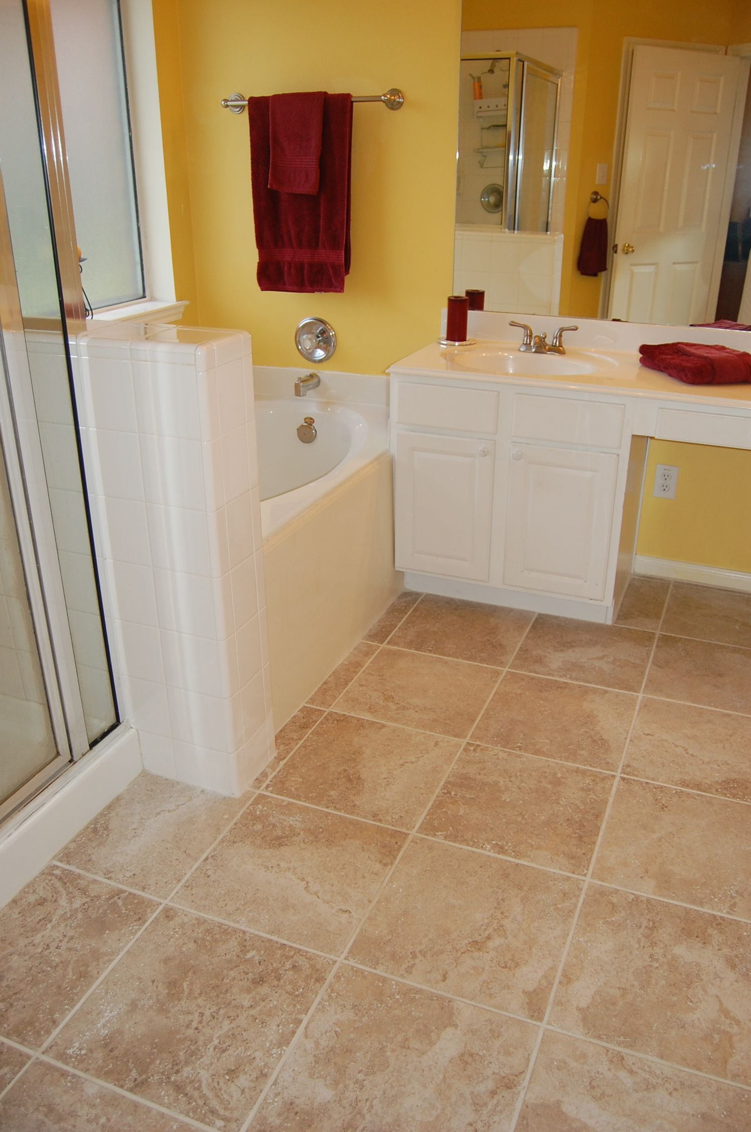 red and yellow bathroom for the home pinterest