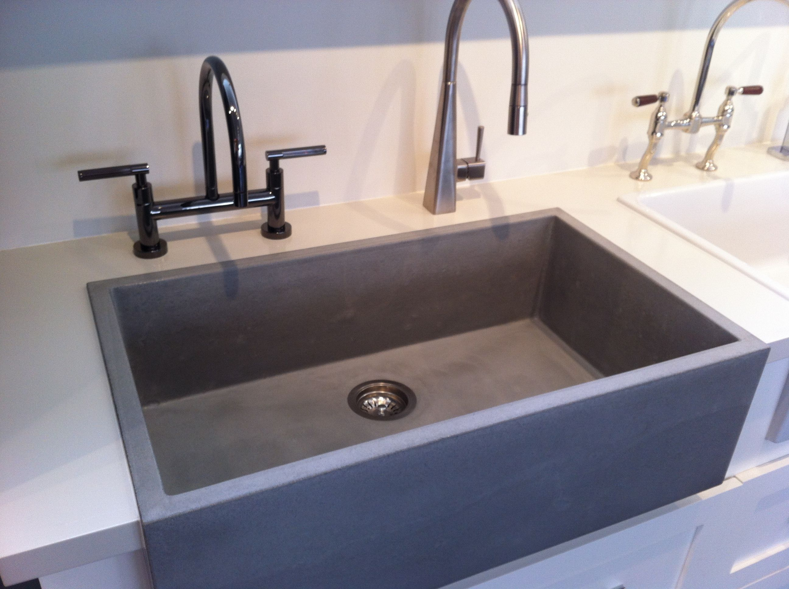 Cement Kitchen Sink Stylish Concrete Sinks Designed To Energize The Kitchen