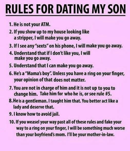 Rules For Dating My Son | Boy oh Boy (Noah) | Pinterest