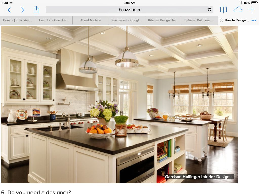 Large Center Island Kitchen Pinterest