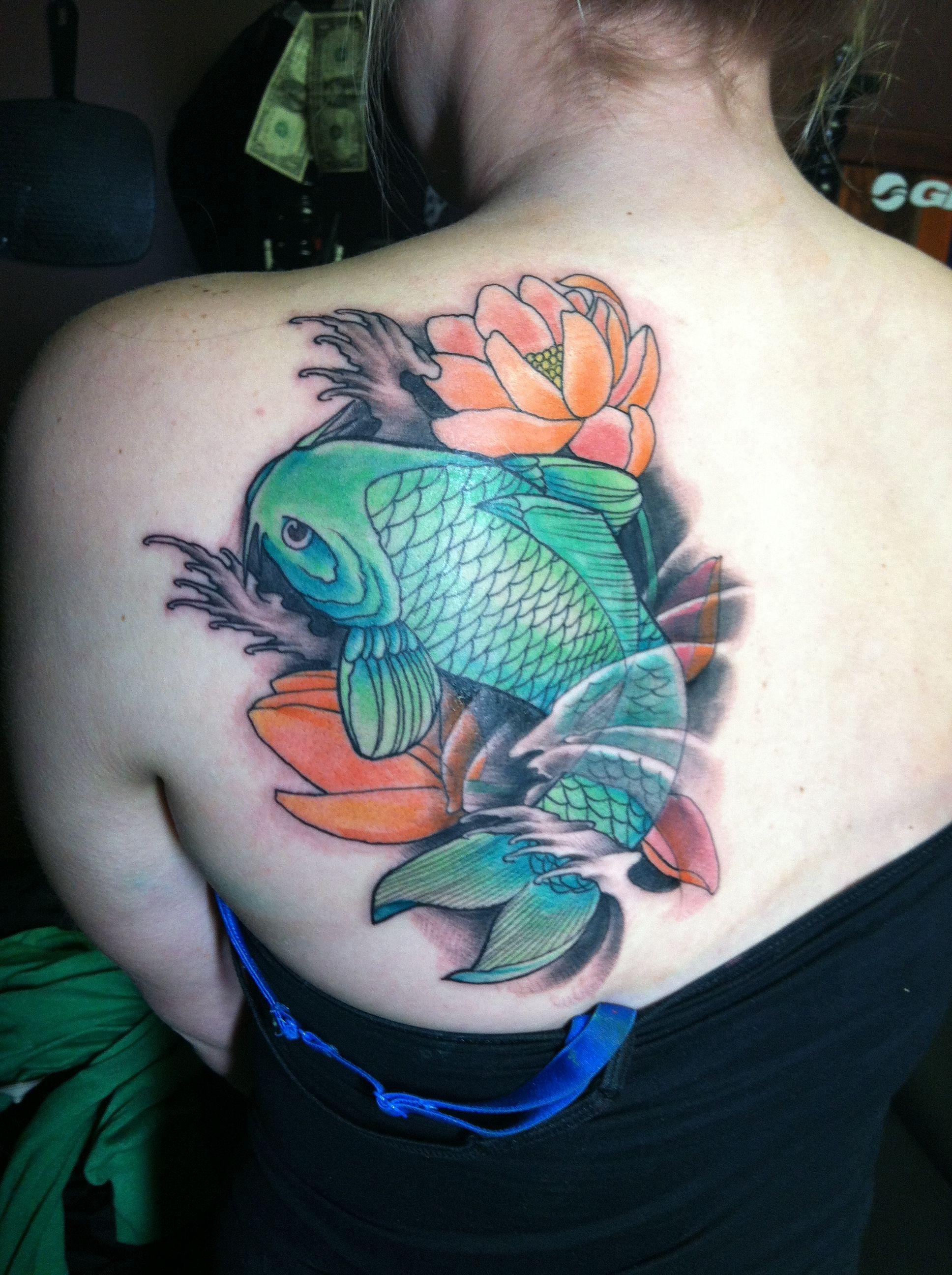 Small koi fish tattoo designs thumbs db for Small coy fish