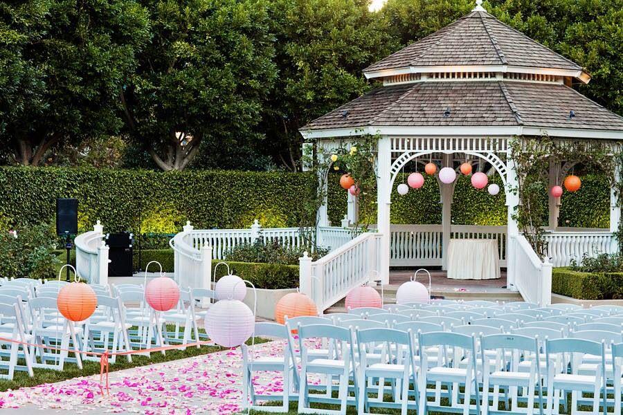 Beautiful outdoor wedding gazebo officially engaged for Outdoor wedding gazebo decorating ideas